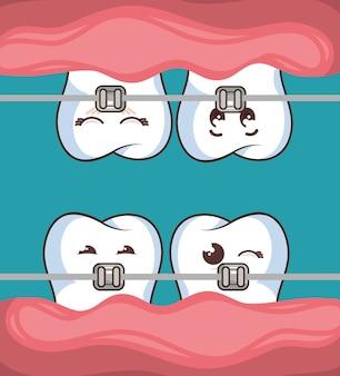 Icône de personnage de dent humaine