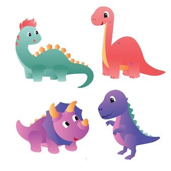 Icône de personnage de dinosaure