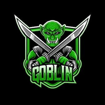 Icône de personnage de gobelin logo esport