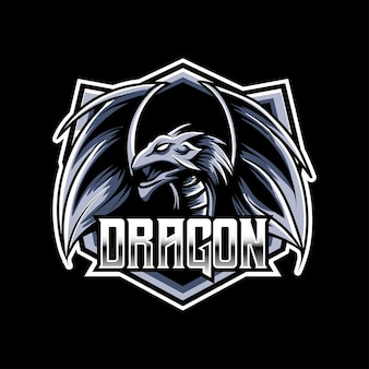 Icône de personnage de mascotte esport logo dragos