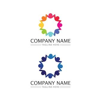 Icône de personnes et groupe de travail logo étoile conception d'illustration vectorielle