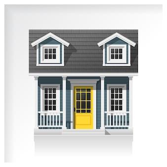 Icône de petite maison isolée sur fond blanc
