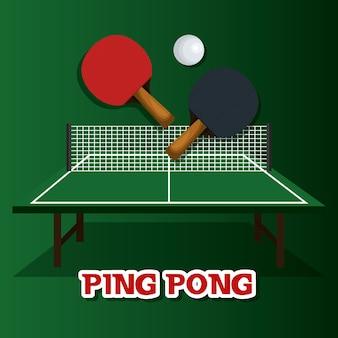 Icône de ping pong sport emblème