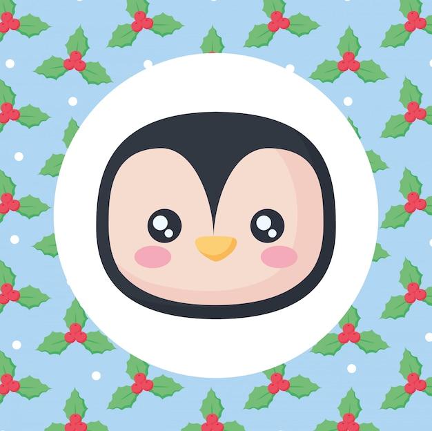 Icône de pingouin mignon