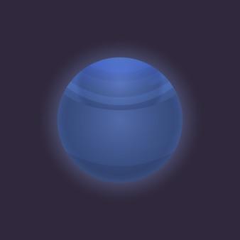 Icône de planète dans l'espace lointain neptune
