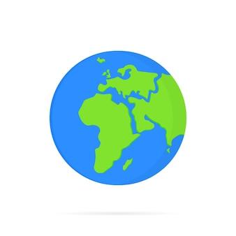 Icône de la planète terre. pour bannière web, web et mobile, infographie. carte du monde. vecteur sur fond blanc isolé. eps 10