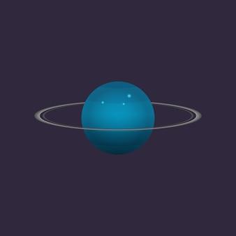 Icône de planète uranus dans l'espace lointain