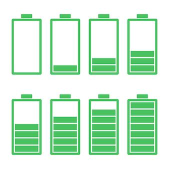 Icône plate batterie vector illustration design sur blanc