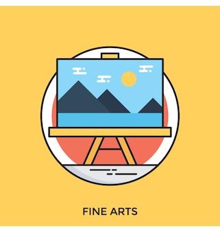 Icône plate des beaux-arts