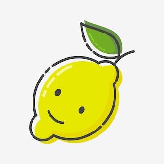 Icône plate de citron de style mbe, illustration vectorielle.