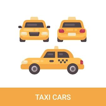 Icône plate de taxi voiture.