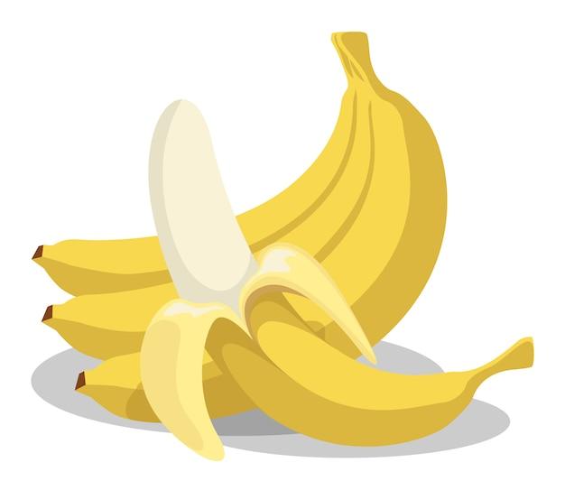 Icône plate de fruits banane sur fond blanc