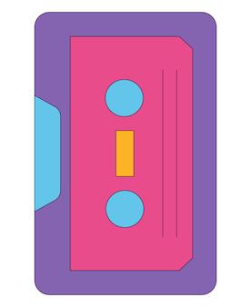 Icône plate d'icône violette dans un style rétro s isolé sur fond blanc