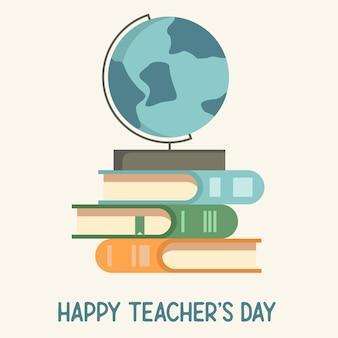 Icône plate de la journée des enseignants heureux