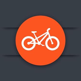 Icône plate ronde de gros vélo