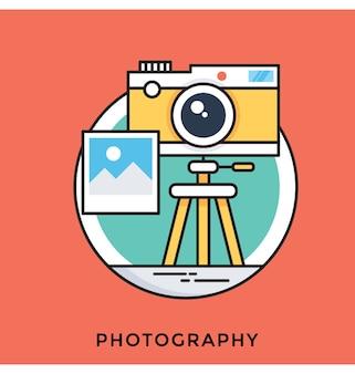 Icône plate de vecteur de photographie