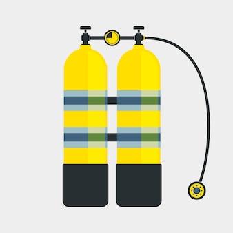 Icône de plongée aqualung