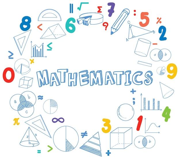 Icône de police mathématique avec formule