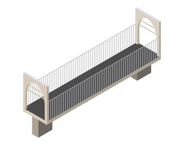 Icône de pont isométrique de vecteur