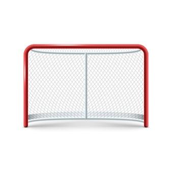 Icône de portes de hockey réaliste sur le fond blanc.