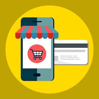 Icône pour faire du shopping en ligne