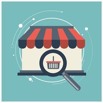 Icône pour payer par clic et achats en ligne sécurisés