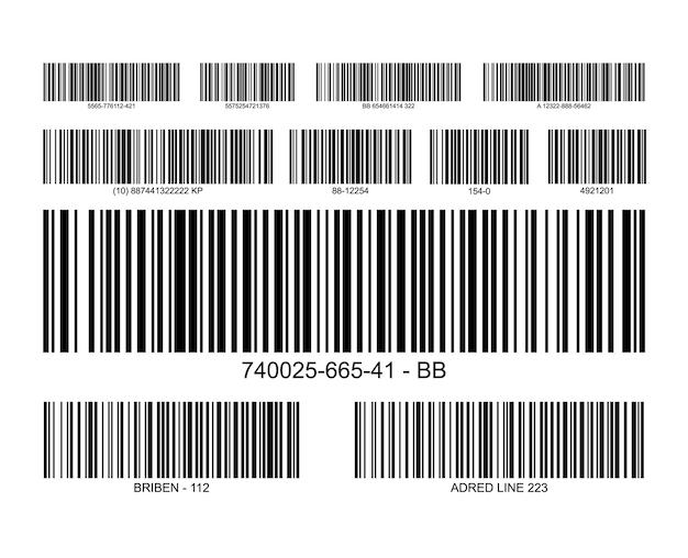Icône de prix d'étiquette de code à barres. étiquette d'information sur la vente au détail de l'inventaire du scanner de codes-barres.