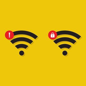 Icône de problèmes de réseau wifi