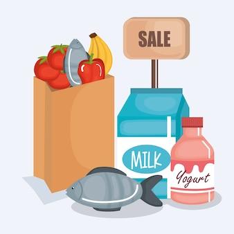 Icône de produits de supermarché