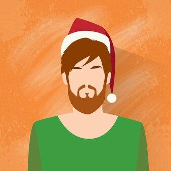 Icône de profil noël nouvel an homme