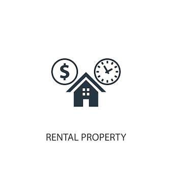 Icône de propriété locative. illustration d'élément simple. conception de symbole de concept de propriété locative. peut être utilisé pour le web et le mobile.
