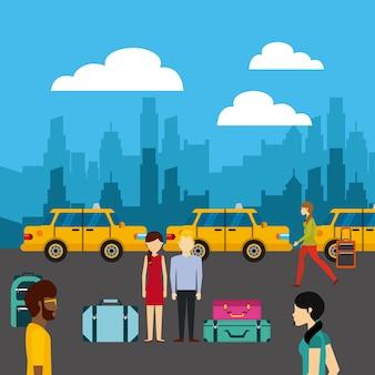 Icône publique de service de taxi
