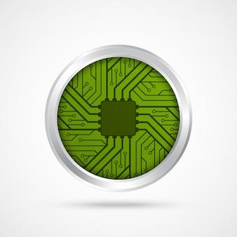 Icône de puce électronique. illustration vectorielle.