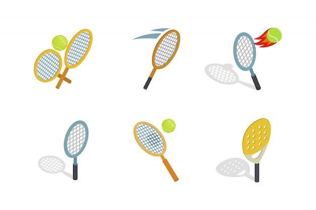 Icône de raquette de tennis sur fond blanc
