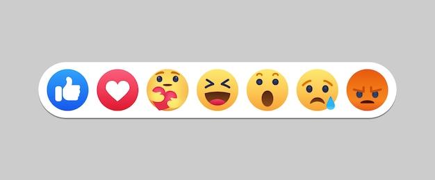 Icône de réactions de réseau social emoji