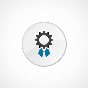 Icône de réalisation 2 de couleur, gris et bleu, badge cercle