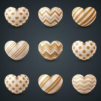 Icône réaliste d'amour et de coeur