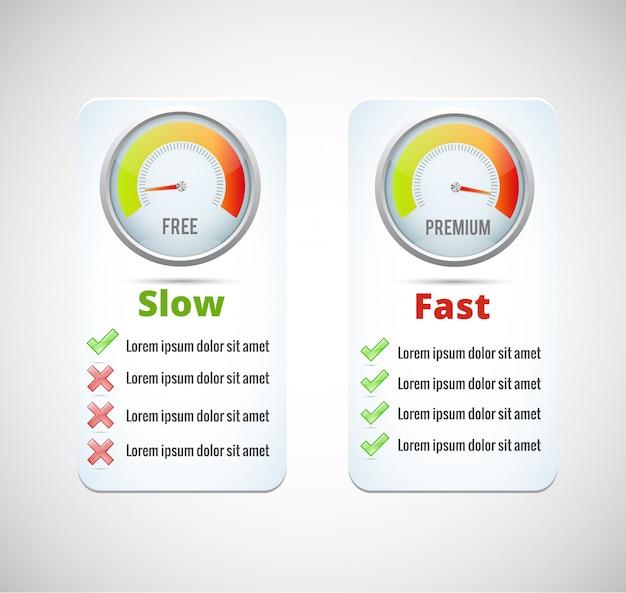 Icône réaliste de compteur de vitesse. illustration vectorielle la vitesse