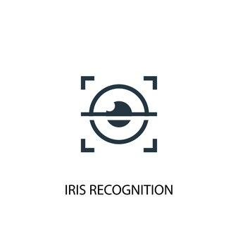 Icône de reconnaissance d'iris. illustration d'élément simple. conception de symbole de concept de reconnaissance d'iris. peut être utilisé pour le web et le mobile.