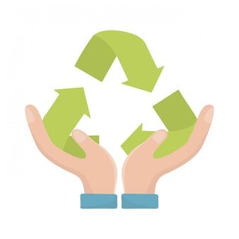 Icône de recyclage représentée par des flèches