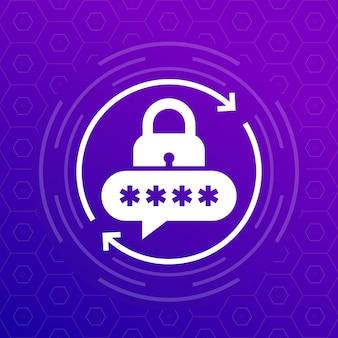 Icône de réinitialisation de mot de passe pour les applications, conception vectorielle
