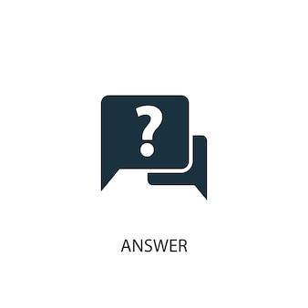 Icône de réponse. illustration d'élément simple. conception de symbole de concept de réponse. peut être utilisé pour le web et le mobile.