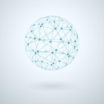 Icône de réseau mondial