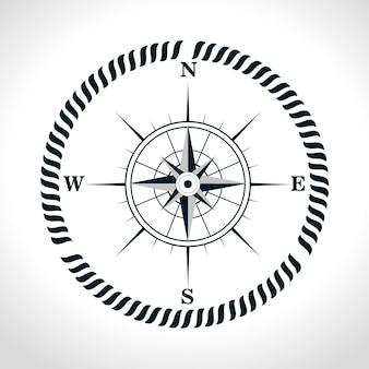 Icône rétro symbole de la boussole