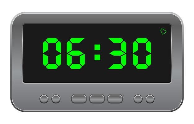 Icône de réveil numérique