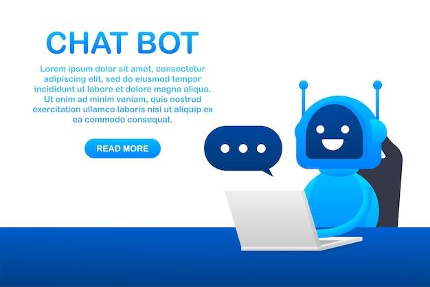 Icône de robot. conception de signe de bot. concept de symbole de chatbot. robot de service d'assistance vocale. robot d'assistance en ligne. illustration vectorielle.