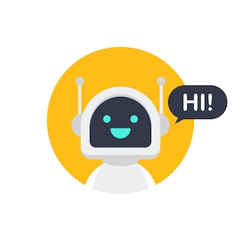 Icône de robot. conception de signe de bot. notion de symbole chatbot. service d'assistance vocale bot. support en ligne bot. stock illustration vectorielle