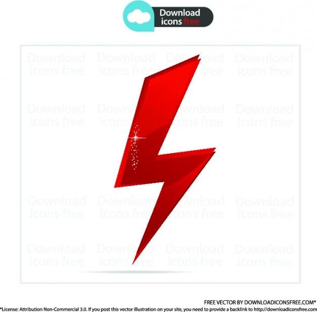 Icône rouge de boulon de puissance