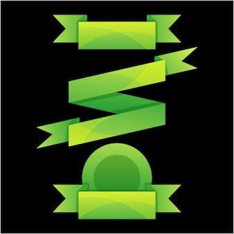 Icône de ruban sertie de style vectoriel dégradé