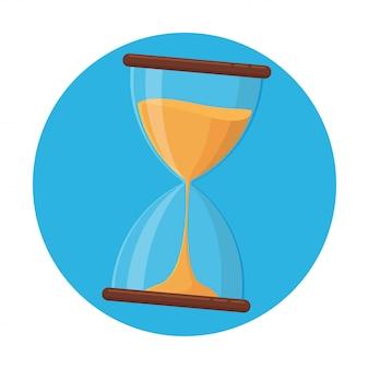 Icône sablier, vecteur sablier sur le point de manquer de temps